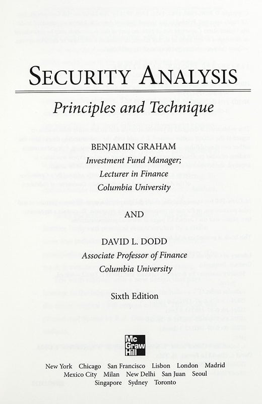 Security Analysis.