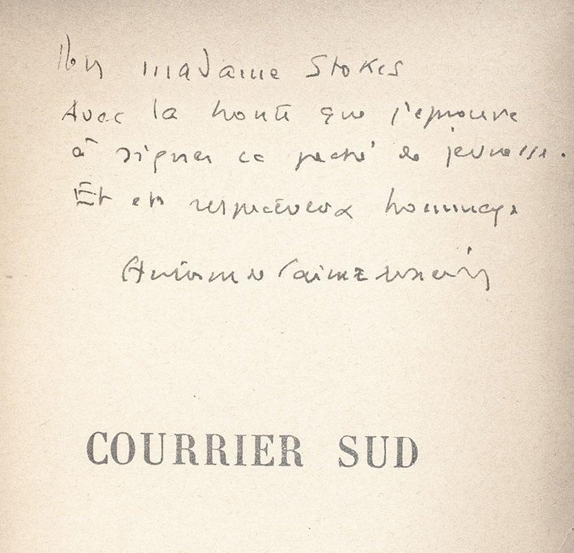 Courrier Sud, Vol de Nuit, Terre des Hommes and Pilote de Guerre.