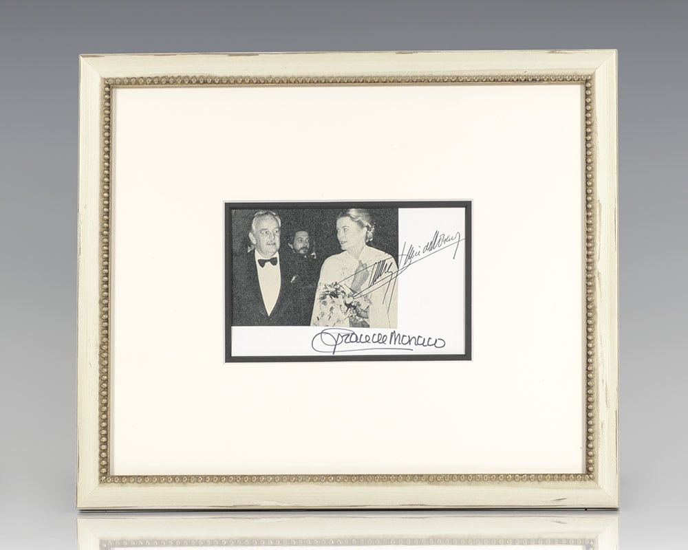 Princess Grace and Prince Rainier Signed Photograph.