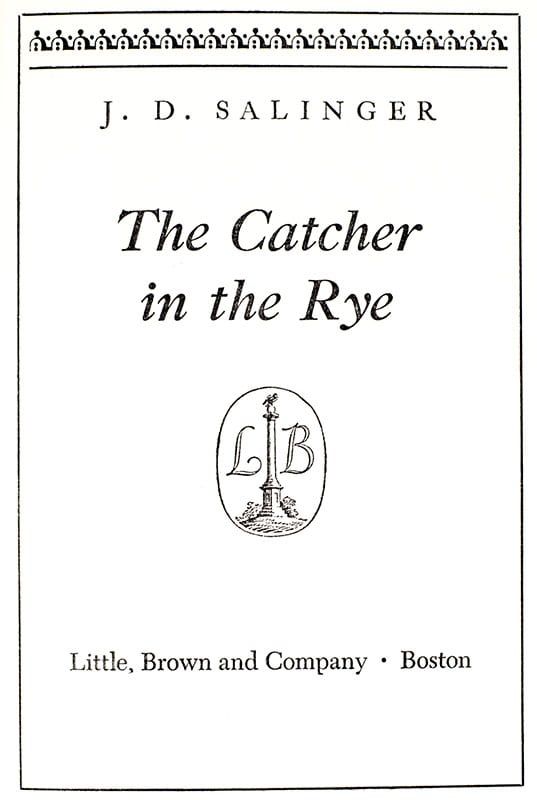 The Catcher In the Rye, Nine Stories, Raise High the Roofbeam, Franny and Zoey,