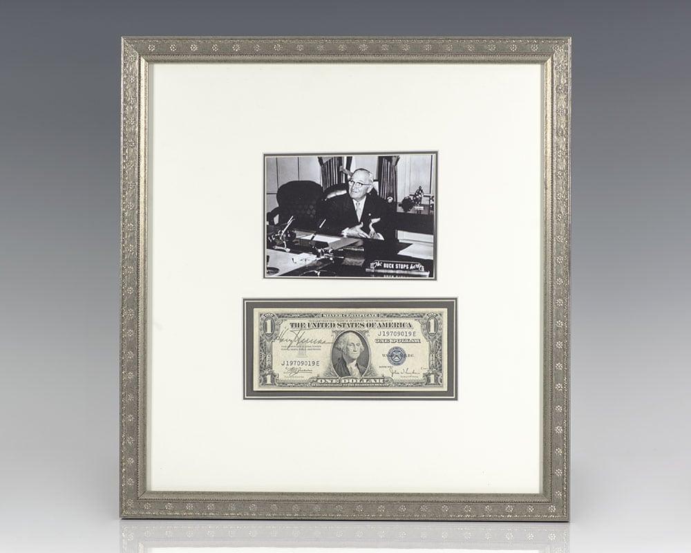 Harry S. Truman Signed Dollar Bill.
