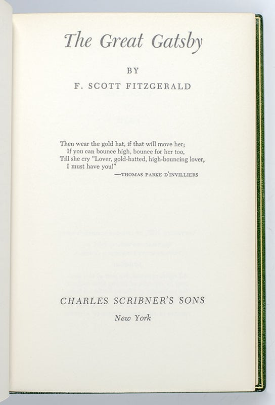 This Side of Paradise; Flappers and Philosophers; Six Tales of the Jazz Age and Other Stories; The Beautiful and the Damned; The Great Gatsby; Tender is the Night; Taps at Reveille; The Last Tycoon: An Unfinished Novel; The Stories of F. Scott Fitzgerald: A Selection of 28 Stories; Afternoon of an Author: A Selection of Uncollected Stories and Essays; Babylon Revisited and Other Stories; The Pat Hobby Stories; The Letters of F. Scott Fitzgerald; Scott Fitzgerald: Letters to His Daughter; The Apprentice Fiction of F. Scott Fitzgerald, 1909-1917.