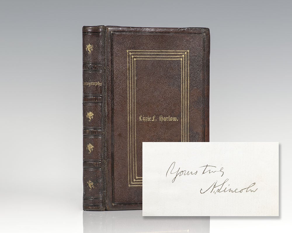 Autograph Album Signed by Abraham Lincoln and His Cabinet.
