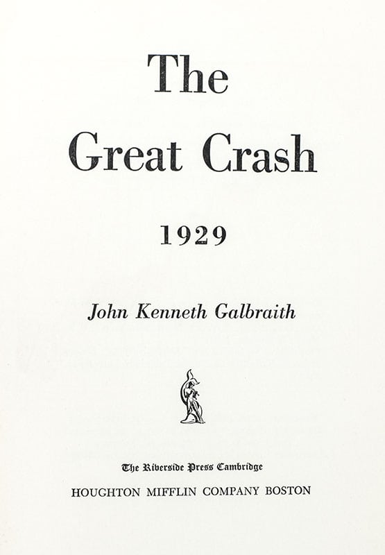 The Great Crash 1929.