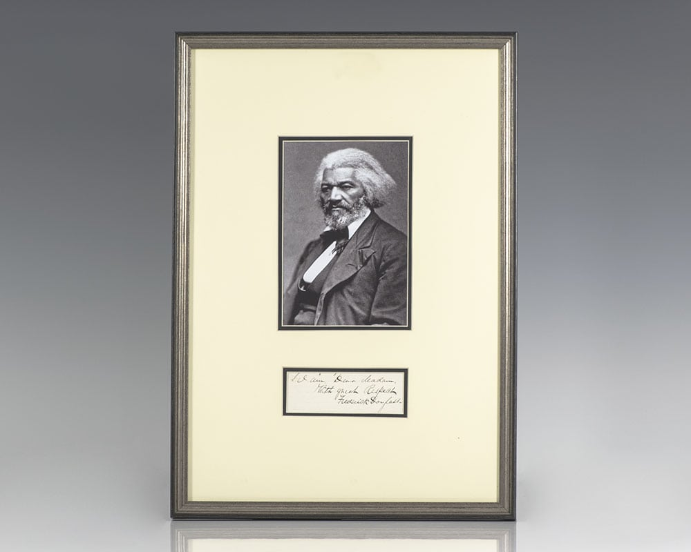 Frederick Douglass Autograph Note Signed.