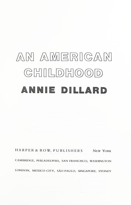 An American Childhood.