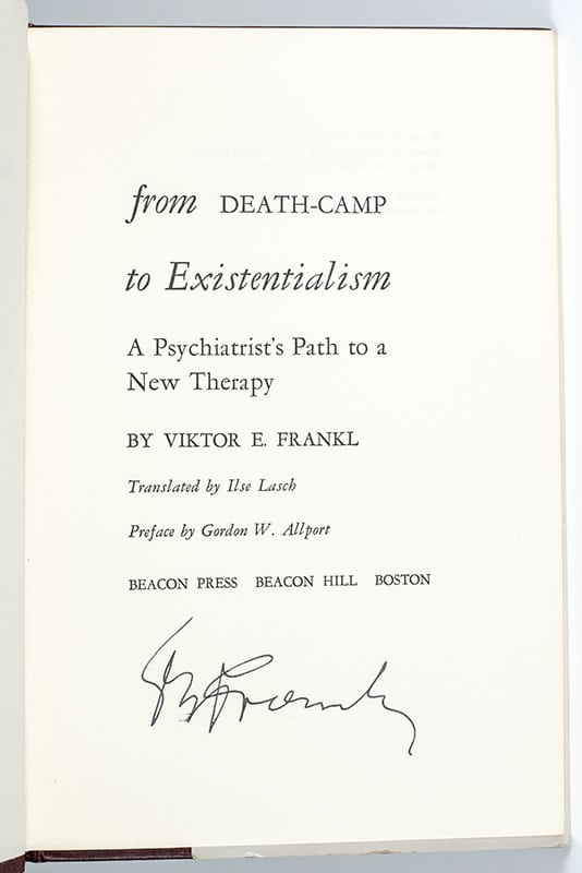From Death-Camp To Existentialism (Man's Search For Meaning).