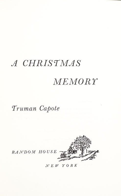 a christmas memory - A Christmas Memory Full Text