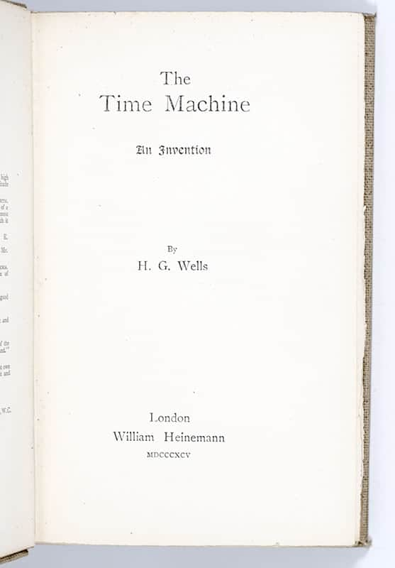 The Time Machine: An Invention.