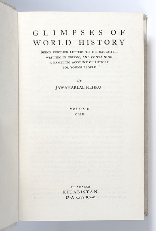 Glimpses of World History: Two Volume Set.