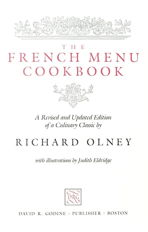 The French Menu Cookbook.