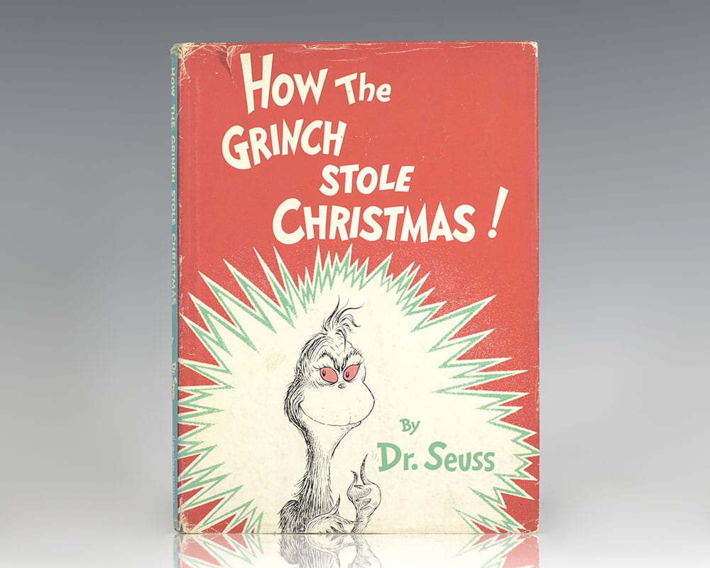 How The Grinch Stole Christmas Book Cover.How The Grinch Stole Christmas