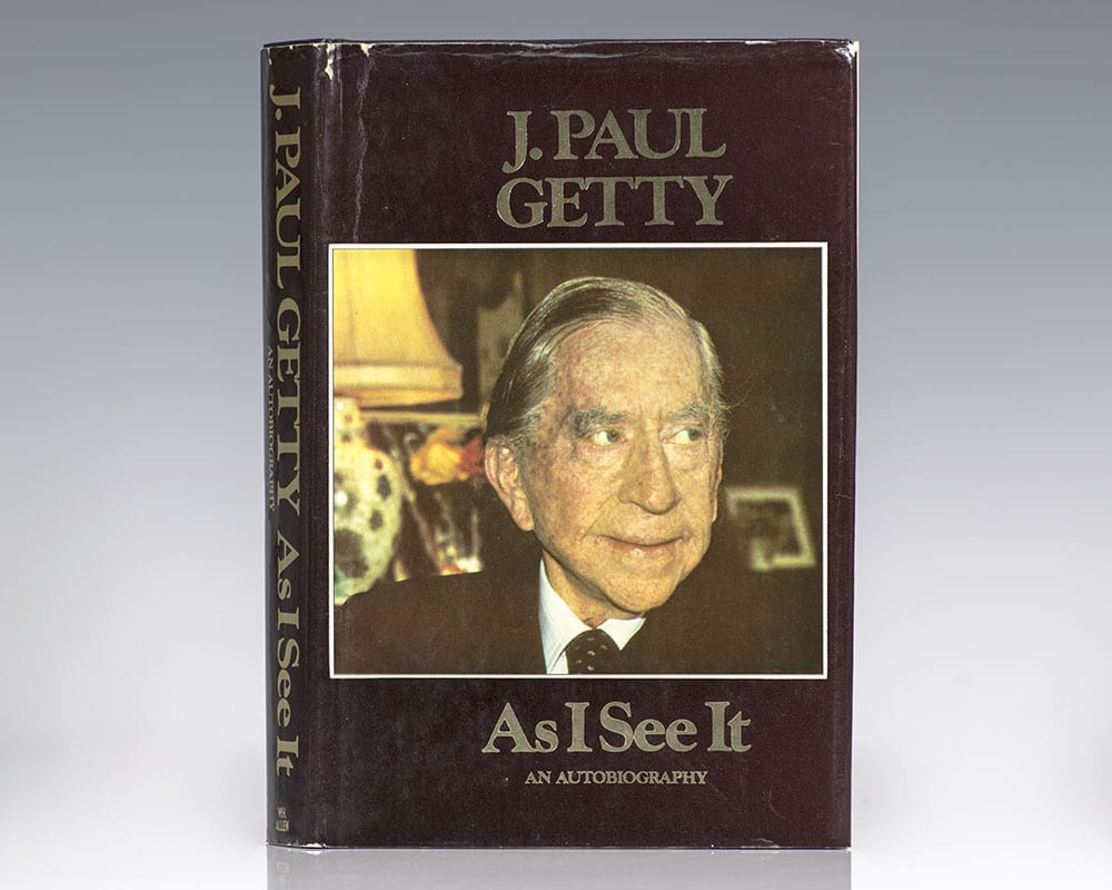 As I See It: The Autobiography of J. Paul Getty.