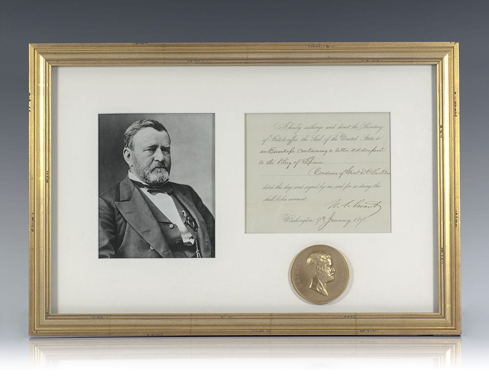 Ulysses S. Grant Autograph Document Signed.