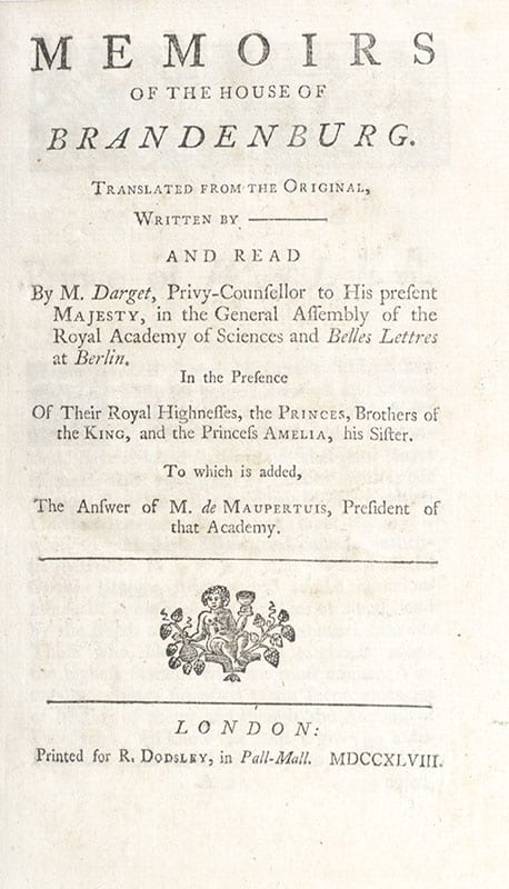 Memoirs of the House of Brandenburg.