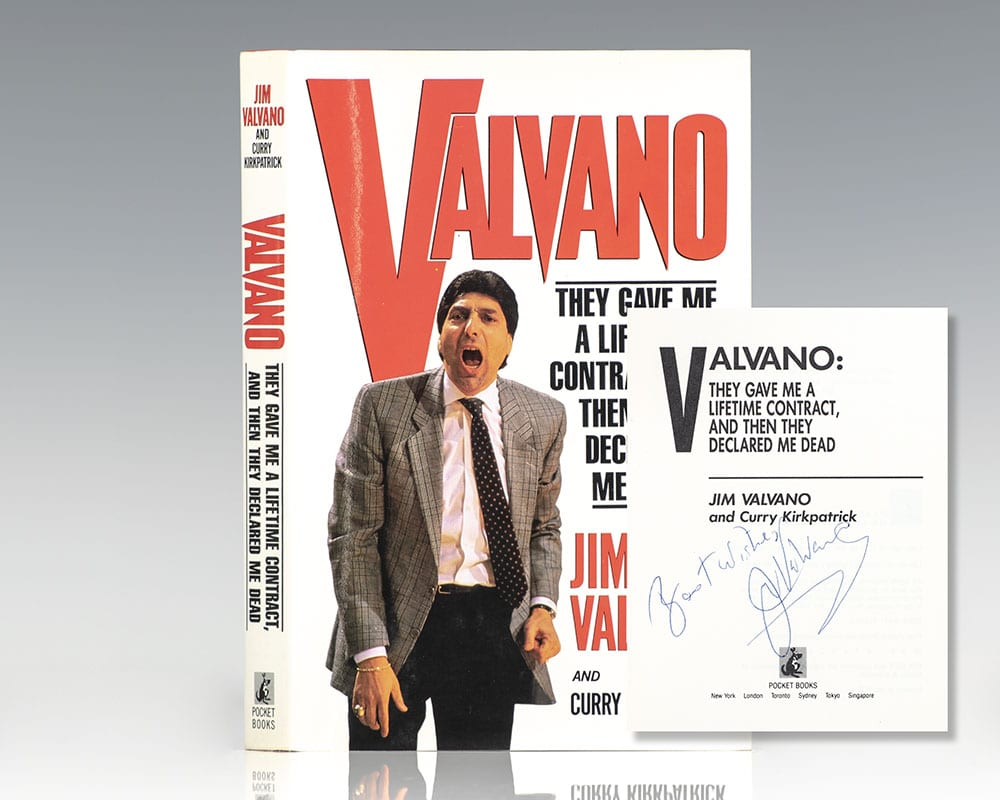 Valvano: They Gave Me A Lifetime Contract, and Then They Declared Me Dead.