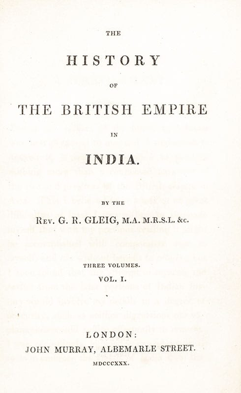 The History of the British Empire in India.