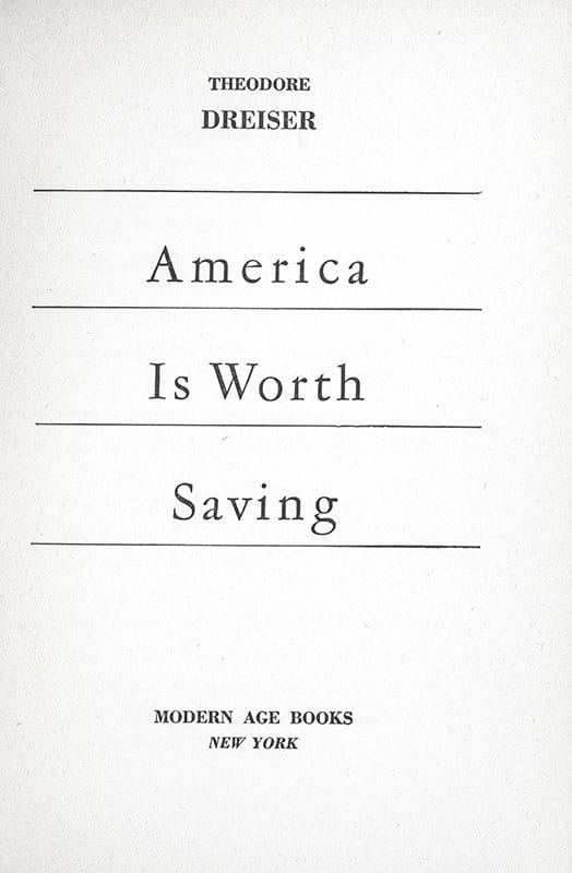 America is Worth Saving.