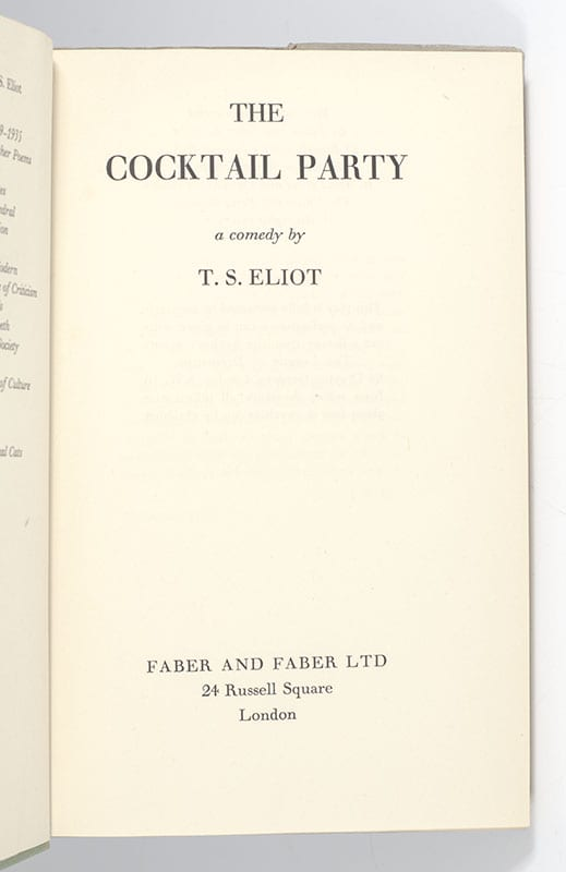 The Cocktail Party.