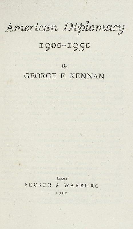 American Diplomacy 1900-1950.