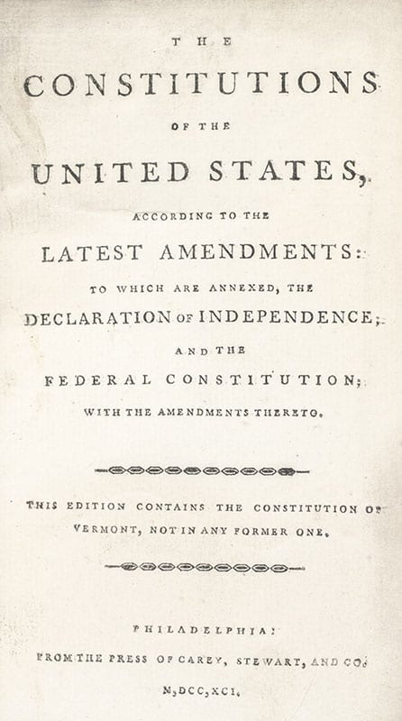 The Constitutions of the United States, According to the Latest Amendments: To Which Are Annexed, The Declaration of Independence; and the Federal Constitution.