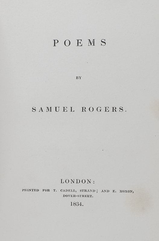 Poems by Samuel Rogers.