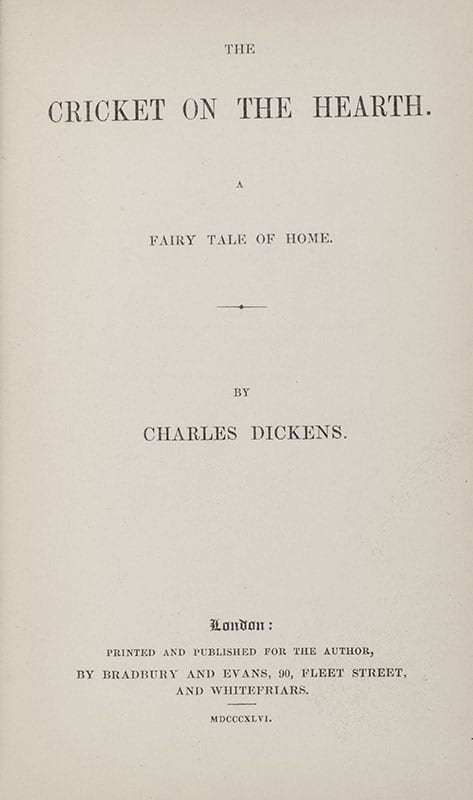 The Christmas Books: A Christmas Carol; The Chimes; The Battle of Life; Cricket on the Hearth; The Haunted Man and The Ghost's Bargain.