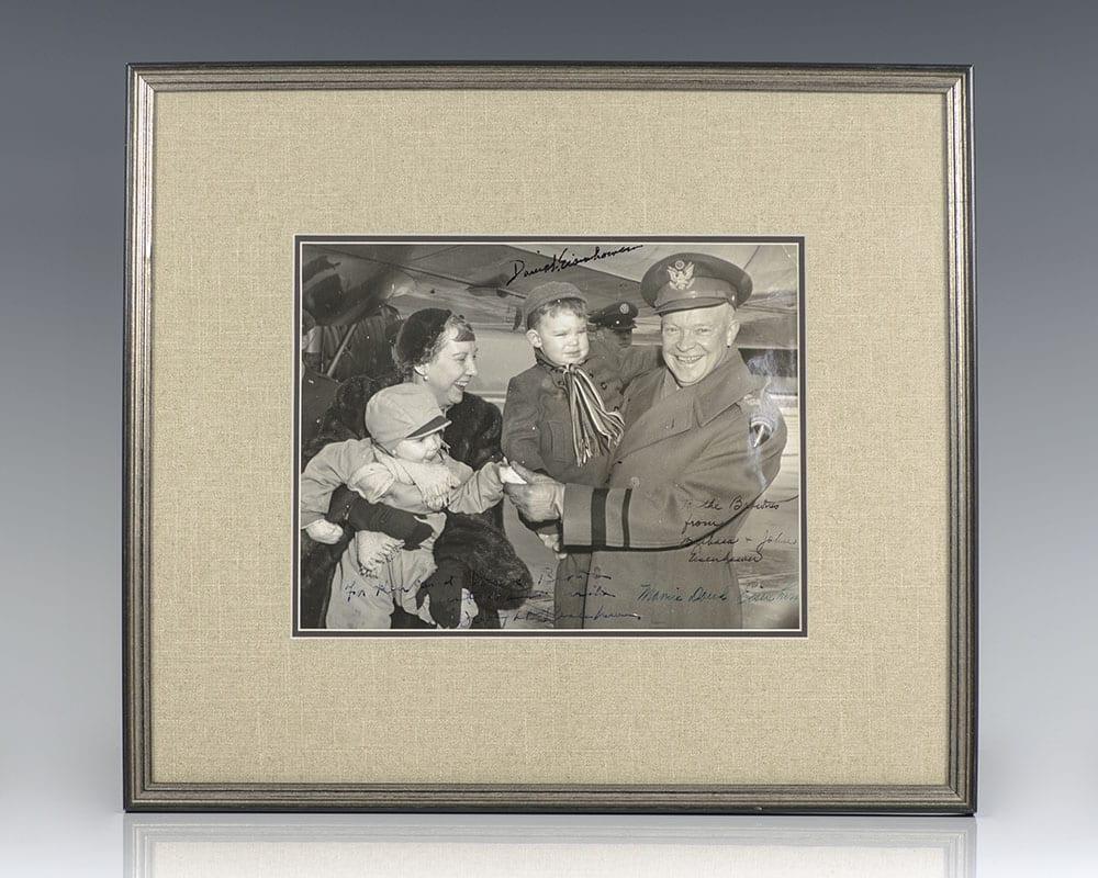 Eisenhower Family Signed Photograph.