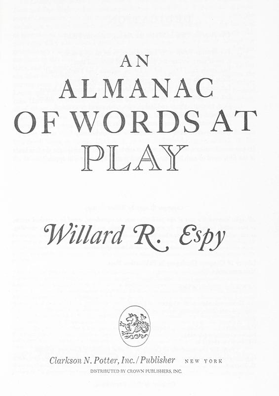 An Almanac of Words at Play.