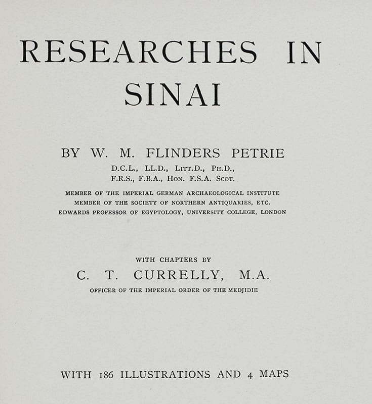 Researches in Sinai.