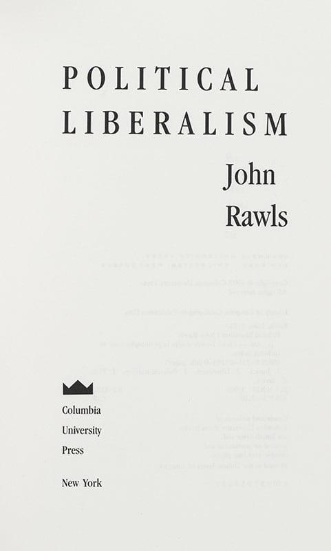 Political Liberalism.