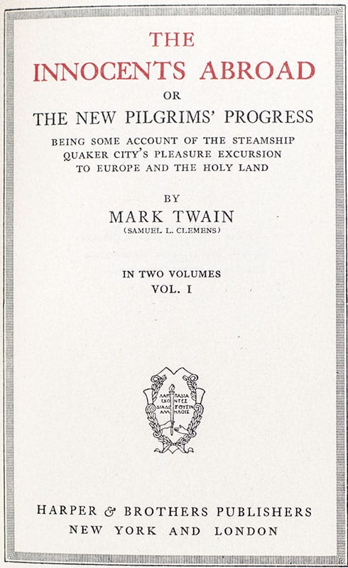 The Works Of Mark Twain First Edition Finely Bound Set