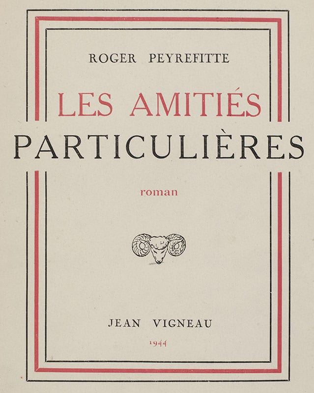 Les Amities Particulieres.