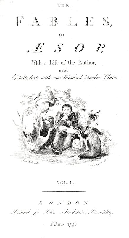 The Fables of Aesop, with a Life of the Author and Embellished with One Hundred & Twelve Plates.