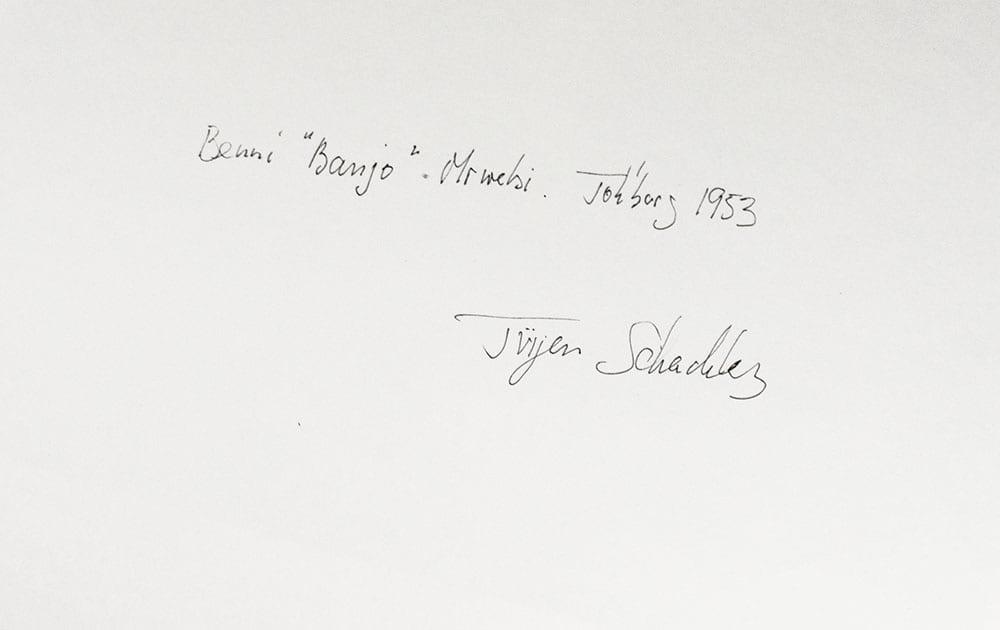 benni banjo mrwebi silver gelatin print signed