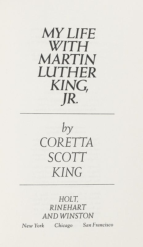 My Life with Martin Luther King, Jr.