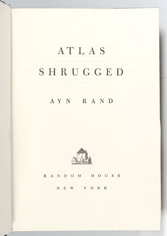 Atlas Shrugged.
