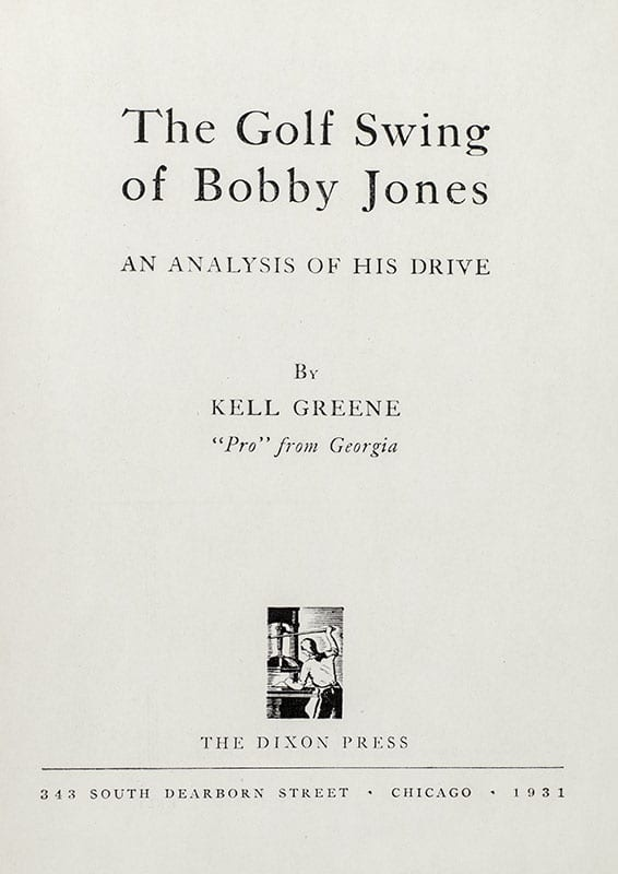 The Golf Swing of Bobby Jones: An Analysis of His Drive.
