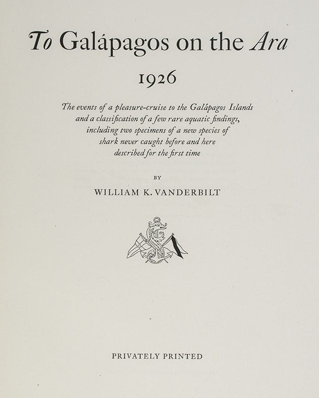 To Galapagos on the Ara 1926: The Events of a Pleasure-Cruise to the Galapagos Islands.