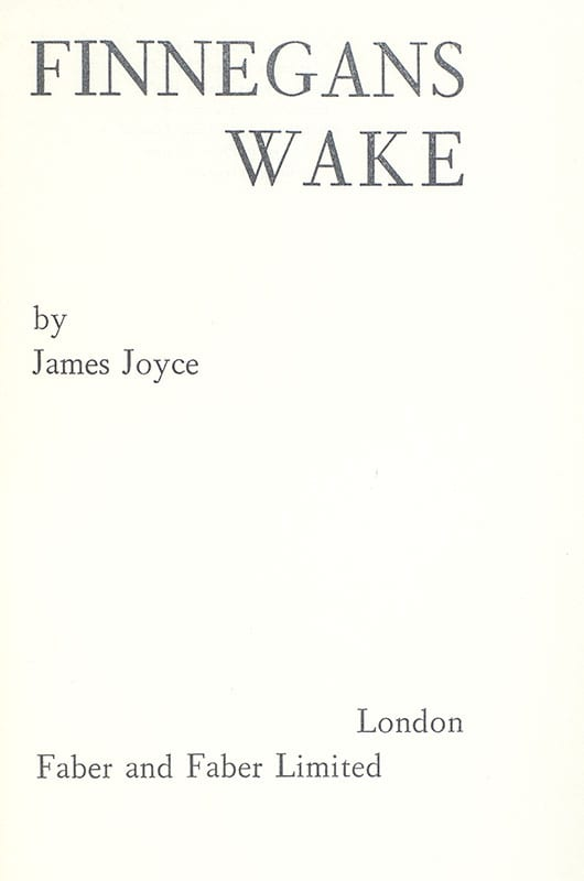 Finnegans Wake.