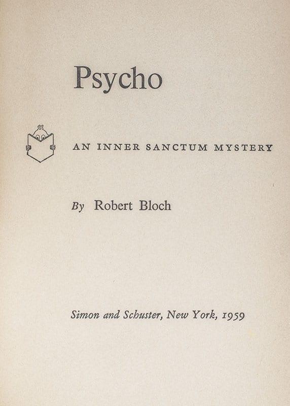 Psycho. An Inner Sanctum Mystery.
