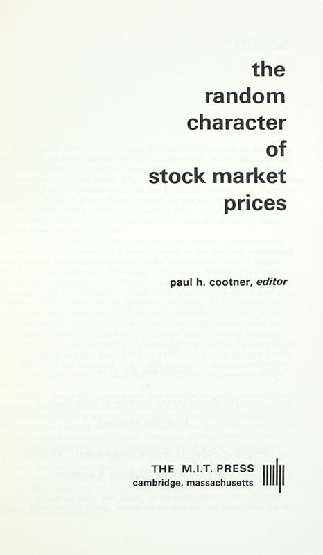 The Random Character of Stock Market Prices.