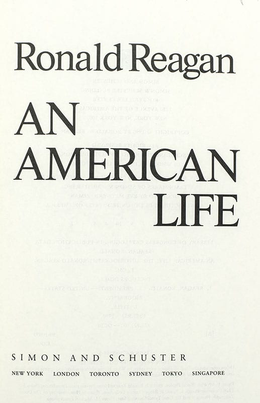 An American Life.