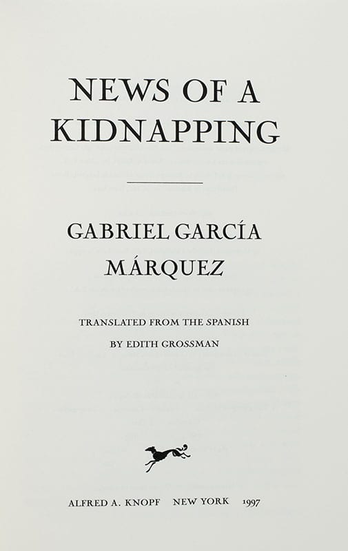News of a Kidnapping.