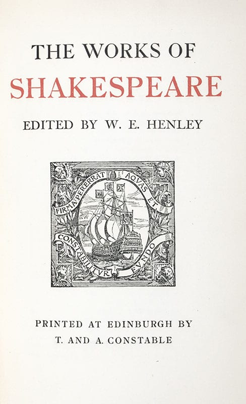 The Works of Shakespeare.
