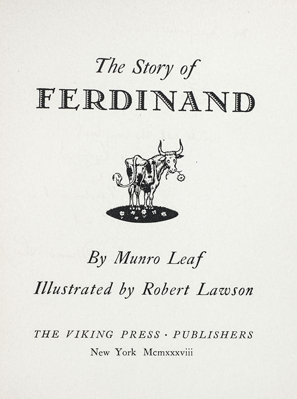 The Story of Ferdinand.