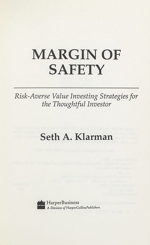 The Margin of Safety: Risk-Averse Value Investing Strategies for the Thoughtful Investor.