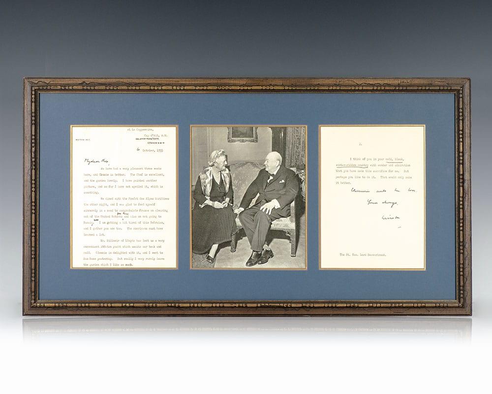 Winston S. Churchill Autograph Letter Signed.