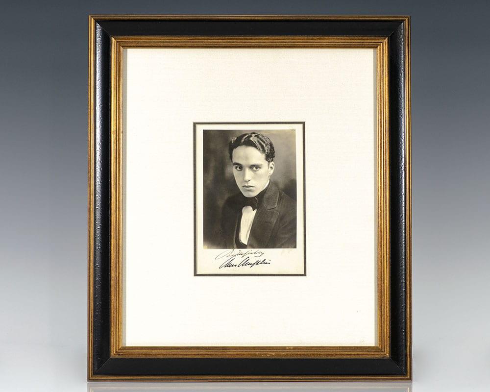 Charlie Chaplin Signed Photograph.