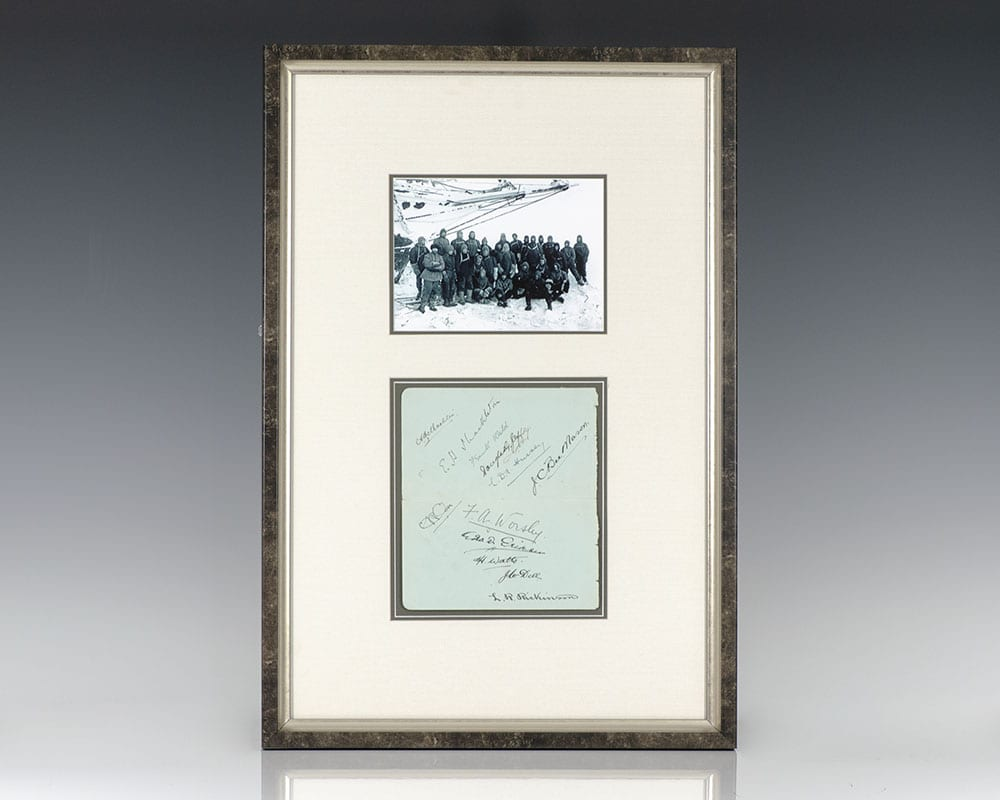 Signed by Twelve Members of the Quest Expedition.